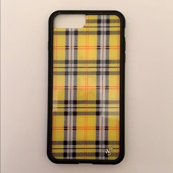 cheap for discount d2ddd eb62b Wildflower Case Yellow Plaid iPhone 7plus NWT